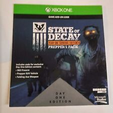 State of Decay Year-One Survival Edition PEPPER PACK DLC CARD  (Xbox One) #2110
