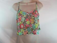 NWT  Island Soul Sleeveless Cover-Up Top Sheer w/ Floral Print Size Large