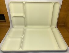 (X) 2 Tupperware 1535-2 Divided Off White Trays GUC; Free US Shipping