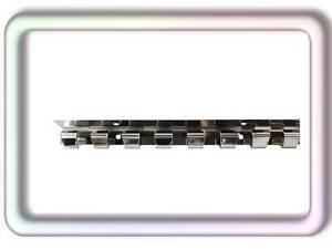 PVC Streifen Vorhang Wandschiene Hakenleiste Edelstahl auf Glanz poliert