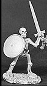 1x SKELETON SWORD SHIELD - DARK HEAVEN LEGENDS REAPER miniature rpg left 06053r