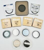 Lot of (13) Assorted Filters for 52mm, Nikon, Canon, Hoya, Insignia, etc.