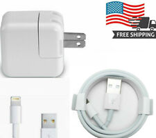 12W USB Adapter Charger For iPhone 8, X, 7, 6,  iPad 2 3 4 Air 1 2 with 3ft Cord