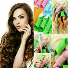 18Pcs Set Long Hair Curlers Curl Leverage Rollers Spiral Tool 30cm+20cm UK