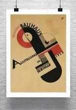 Bauhaus Exhibition 1923 Vintage Poster Rolled Canvas Giclee Print 24x32 in.