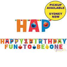 Elmo Turns One Sesame Street 1st First Birthday Jumbo Letter Banner Kit