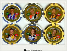 2008 Topps AFL Poker Chipz Gold Best & Fairest Chipz Full Set (16)