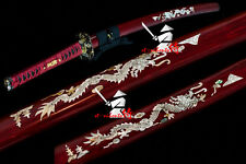 top quality clay tempered shihozume blade japanese samurai katana dragon sword
