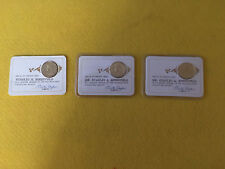 197O 71 72 Franklin Mint Charter Membership Card With Gold Over Sterling Coin
