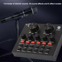 V8 Audio USB Headset Mikrofon Webcast Live Soundkarte für Handy Computer