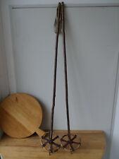 V2246 Antike Skistöcke um 1930 ~ RAR ~ Skistock ~ Super Winter Deko ~ 130cm lang