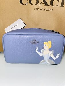 Disney X Coach Boxy Cosmetic Case Cinderella Limited Edition Sold Out In Stores