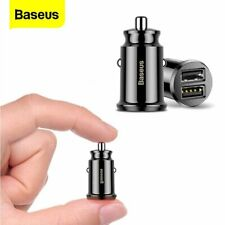 Baseus Mini Car Charger 3.1A Dual USB Power Adapter for iPhone 11 Samsung S10