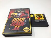 Road Rash II Sega Genesis Game And Box Only, Authentic, Tested And Working
