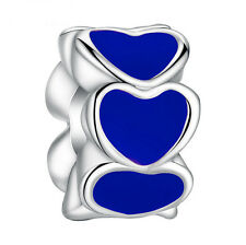 NEW European Silver plated Charm Bead Fit sterling 925 Necklace Bracelet #S039