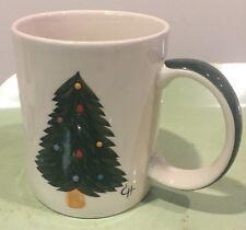 LE GOURMET CHEF Christmas Tree 16oz. Coffee Mug Tea Cup Holiday Hand Painted
