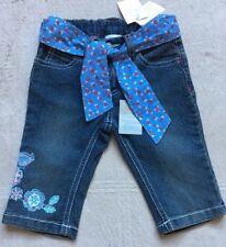 Pumpkin Patch Adjustable Waist Denim Capris, Size 24 Months Toddler, Stretch