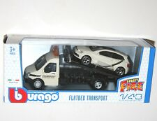 Burago - FLATBED TRANSPORT + VW POLO GTi Mk5 - 'Street Fire' Model Scale 1:43