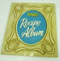 VTG FLAKO Recipe Album Booklet Advertising 1950s Illustrated Mid Century Modern