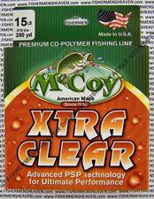 McCoy Fishing Line CoPolymer Xtra Clear 250 Yard Spool 15LB Test