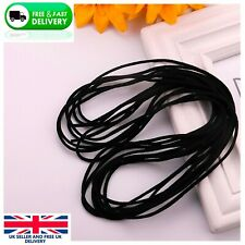 3mm Elastic Cord SOFT BLACK Band Strap Sewing Craft For Face Mask