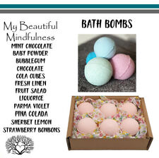 Handmade Bath Bombs Fizzers Sweets Candy Chocolate Pamper Gifts 70g x 4/6