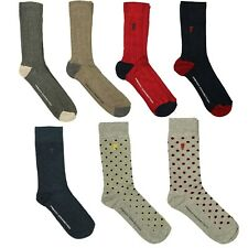 French Connection 2 or 3 Pair Men's Comfortable Soft Cotton Socks One Size