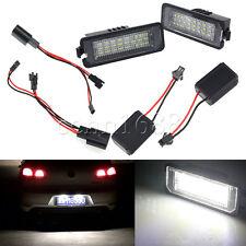 2pcs 24 LED Error Free License Plate Light Canbus For VW Passat Golf GTI MK5 12V