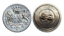 Ancien Bouton de Livrée avec Armoiries. 14 mm
