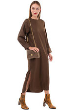 RRP€535 MAX MARA Shift Dress Size 38 / S Thin Wool Blend Crew Neck Made in Italy