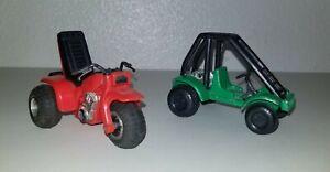 Vintage Tootsie Toy Honda FL250 Odyssey & ATC200 3 Wheeler Toy