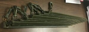 """MILITARY SURPLUS HEAVY DUTY ALUMINUM TENT STAKES - 20.25"""" - LOT OF 8"""