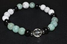 Howlite Amazonite Shungite Bracelet Stress Anxiety Relief Aromatherapy Gemstone