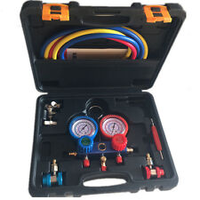 R134a AC Manifold Pressure Gauge Set Automotive Air Conditioning Tool Kit