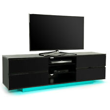 Centurion Supports Avitus Gloss Black 4 Drawer with Skyblue LED Lights TV Stand