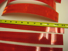 """RED Reflective   Conspicuity Tape 25 Strips 1-1/2 -11""""  FREE SHIPPING"""