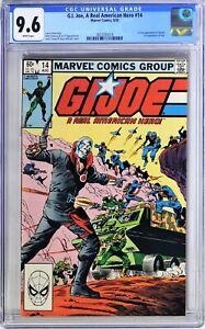 S193. G.I. JOE A REAL AMERICAN HERO #14 Marvel CGC 9.6 NM+ (1983) 1st App DESTRO