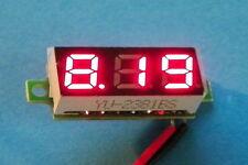 """RED 0.28"""" 2.5v-30v 2-wire LED Voltmeter Display .28"""