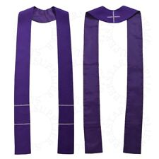 Christian Solid Pure Color Priest Stole Catholic Pastor Clergy Stole 4 Colors