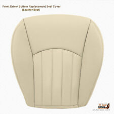 2002 - 2008 Jaguar X-Type Driver Bottom Leather Replacement Seat Cover Light Tan