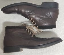 J&M 1850 Johnston & Murphy Brown Leather Mens 10.5 Chelsea Chukka Boots Ankle