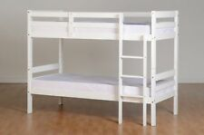 Seconique Panama Natural Wax Pine 3ft Single Bunk Bed in White