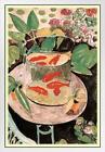 Henri Matisse Goldfish With Border White Wood Framed Poster 14x20