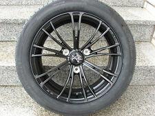 oz x 2 Negro Neumáticos de verano ruedas LLANTAS ALUMINIO SMART FORTWO 451