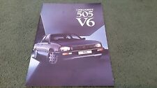 1987 PEUGEOT 505 V6 SALOON - UK 16 PAGE BROCHURE