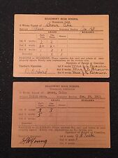 Lot 2 Vintage 1930s Report Cards Beaumont High School Piano Solid Geometry 31 32