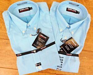 Kirkland Signature mens Button Down100% cotton non iron Dress Shirt 6 size BNWT