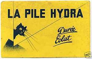 BUVARD  LA PILE HYDRA  (1925)