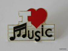 New I Love Music Lapel Hat Pin Band Melody Tie Tack Chorus Brooch Choir