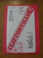 17/10/1981 Cliftonville v Ballymena United [Northern Ireland Gold Cup]  (Item ha